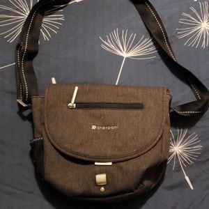 Grey sherpa I handbag